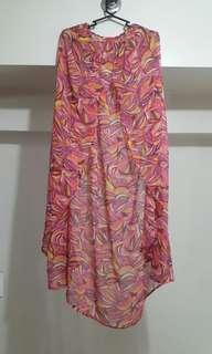 H&M sheer maxi beach skirt with fun summer print