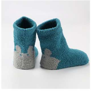 3 Pairs Blue (Can Mix) Baby's Winter Sleep Socks (RM 5/pair)