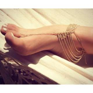 Gold Multilayer Chain Anklet