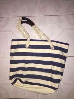 Stripes tote shoulder/hand bag