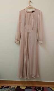 Syomir izwa zawara pale pink dress