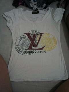 Louis Vuitton imi. white printed shirt with diamond studs