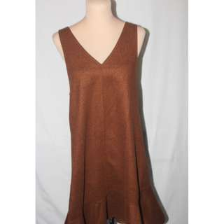 Brown Korean Style Dress