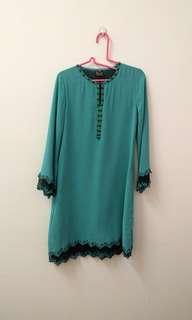 Sequin and beaded kurung top