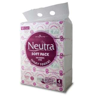 Neutra Soft Pack Tissues - Silky Touch (2ply)  4 x 200 per pack