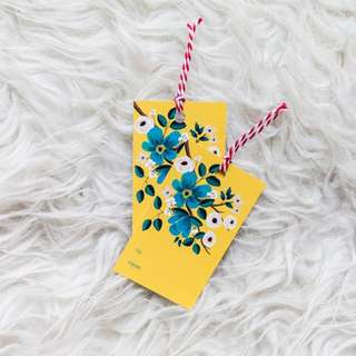 Yellow Flowers Gift Tags