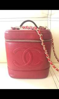 Chanel Vintage 紅色筒袋
