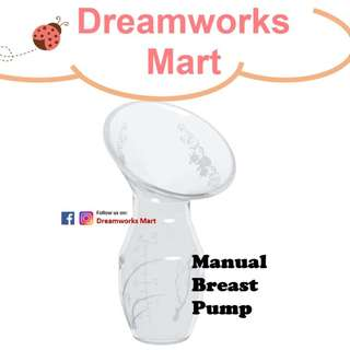 Real Bubee - Silicone Gel Manual Breast Pump c/w Cover