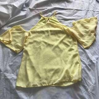 Yellow Off-Shoulder Top