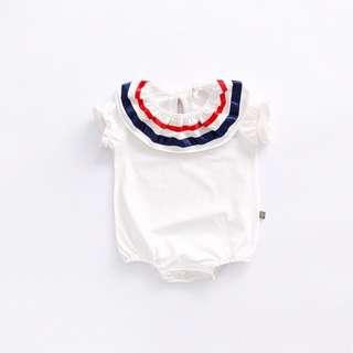 Navy Style Short-sleeve Bodysuit for Baby Toddler Girl/ Boy (0-24 months)