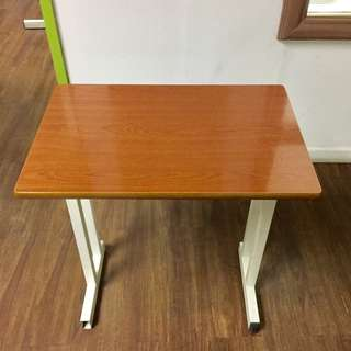 Wooden Table with Metal Legs