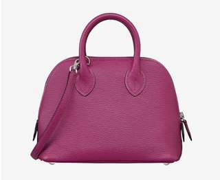 Hermes Mini Bolide Rose Pourpre L3 color