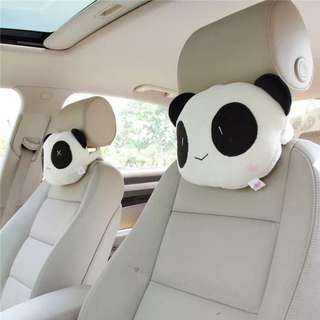 Car Panda Pillow