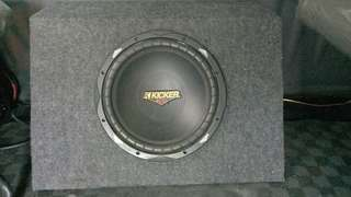 "Kicker 12"" subs with box"