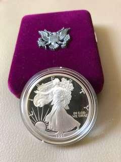 USA 1991 American Eagle 1 oz Silver Proof Coin