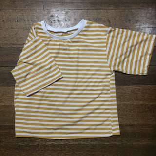 Yellow striped shirt