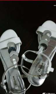 Branded Dune London White sandals