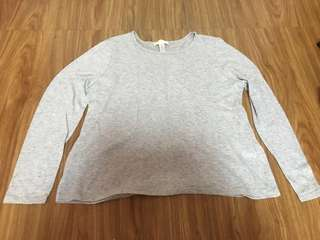 Over Plus Size Gray Long Sleeves