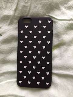 iPhone 6 Hard Black Hearts Case