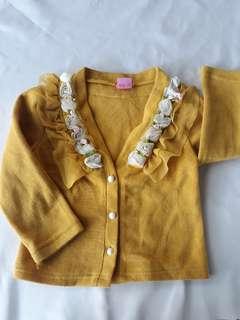 Mustard Cardigan Outerwear for kids
