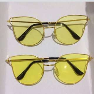 Yellow Summer sunglasses