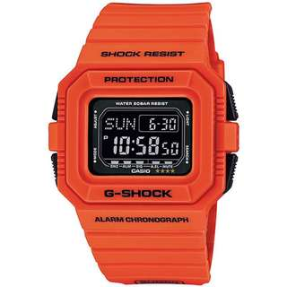 CASIO G-SHOCK DW-D5500 SPECIAL series DW-D5500MR-4 橘色 GSHOCK DWD5500MR