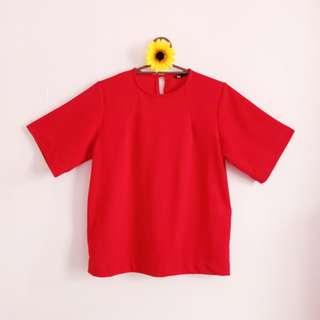 Plain Red Formal Top