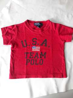 Red T-shirt for kids.