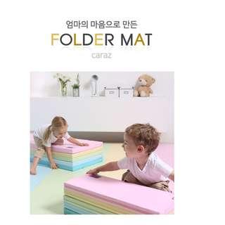 韓國 直送 Caraz BB 小童 加厚 摺摺 地墊 遊玩地墊 遊戲墊 Folder Mat (4摺) (彩色/淡彩色)