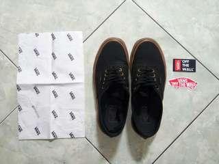 Sepatu Vans Authentic Black Gumsole size 42 Waffle Code DT