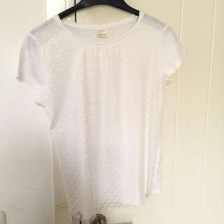 ZARA GIRLS WHITE MESH TOP (11-12 years)