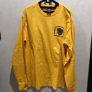 Longsleeve obey crash n burn yellow size m