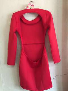 Preloved backless red dress best for party or night out (used 3x)