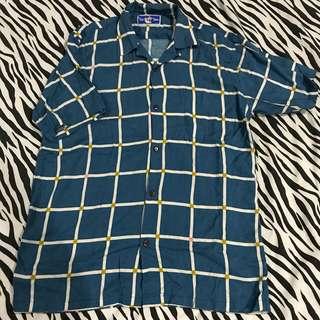 Tropicthunder blue ventana shirt aloha new size L