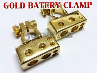BATTERY CLAMP GOLD