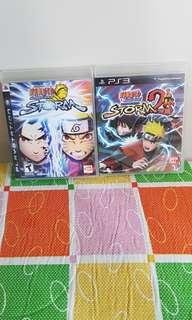 PS3 Naruto Ninja Storm 1 and 2