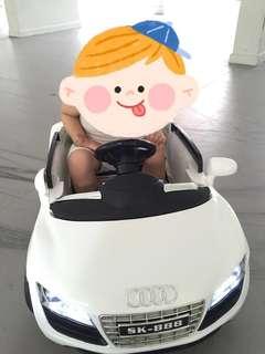 White remote controlled car