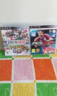 PS3 Pes 2014 and 2015
