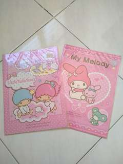 Hello kitty and My Melody new notebooks