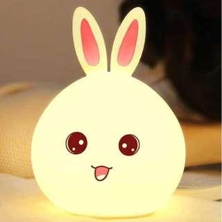 Lampu Tidur Anak LED RGB Light Model Kelinci