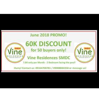 Vine RESIDENCES Condo at QC SM Novaliches SMDC 7K only NO DP