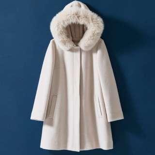 Redyazel shibuya109 5 way coat japanese fashion winter fox fur