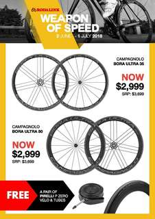 Promo! Campagnolo Bora Road Wheelset