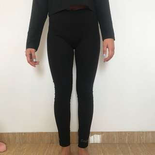 bebe black legging