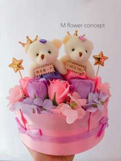 Birthday cake flower