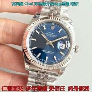 多年舊鋪面交       Rolex 116234 Perpetual Datejust 36mm AR工廠 藍面 日誌 新版