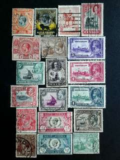 British colonies KGV used stamps