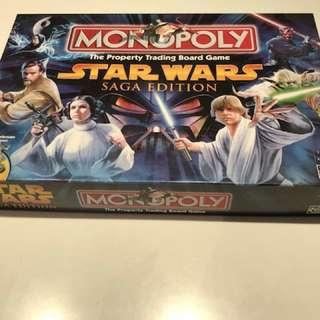 Star Wars Saga Monopoly Board Game