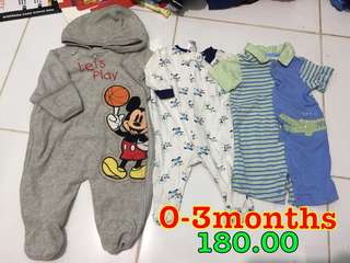 Mickey Mouse Frogsuit Overall 0-3months