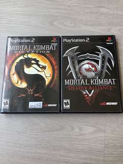 PS2 Mortal Combat Deception and Deadly Alliance